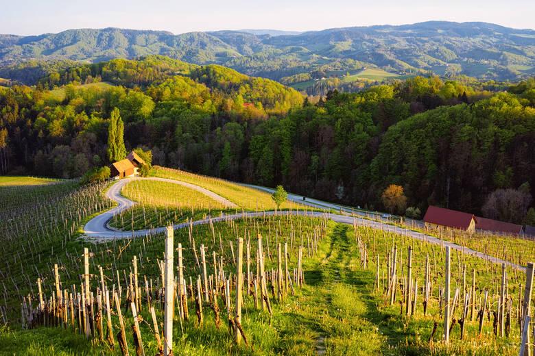 Herzförmige Straße in Slowenien