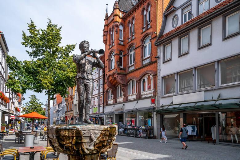 Rattenfänger, Statue, Hameln, Deutschland