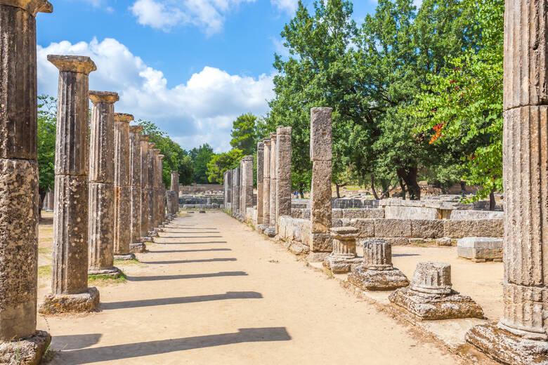 Ruinen, Olympia, Säulen