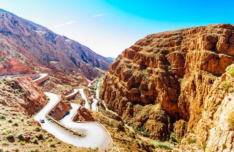 Das Dadestal in der marokkanischen Provinz Tinghir