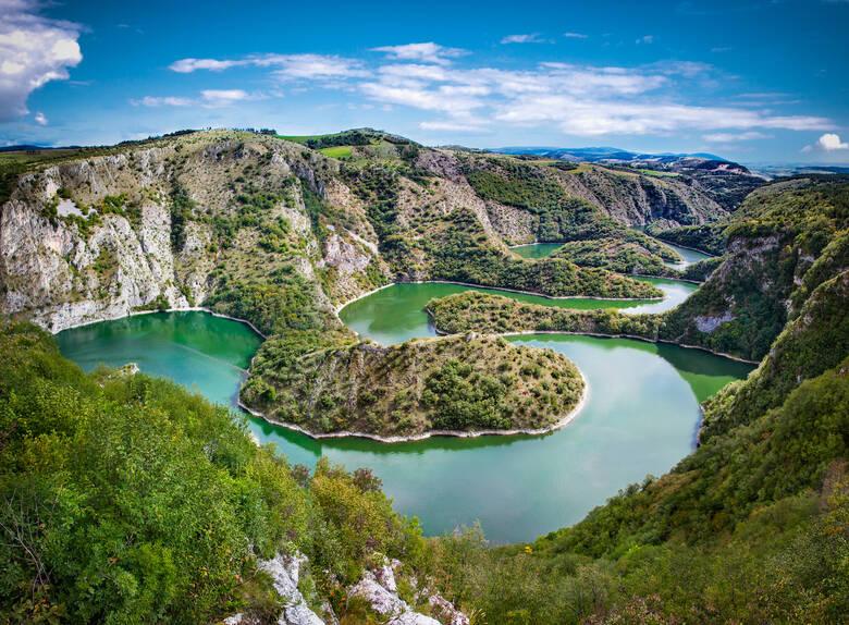 Der Uvac im Südwesten von Serbien